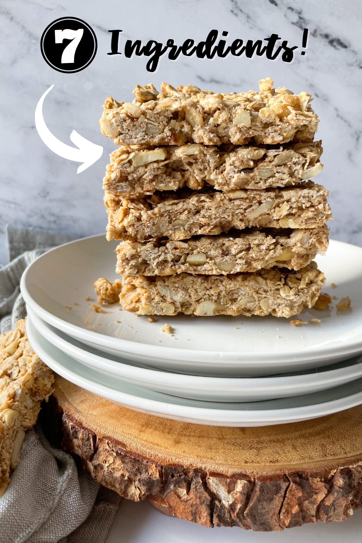 photo of protein bar with text overlay