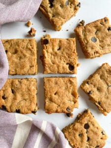 Grain Free Chocolate Chip Cookie Bars