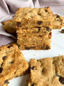 Grain Free Chocolate Chip Cookie Bars