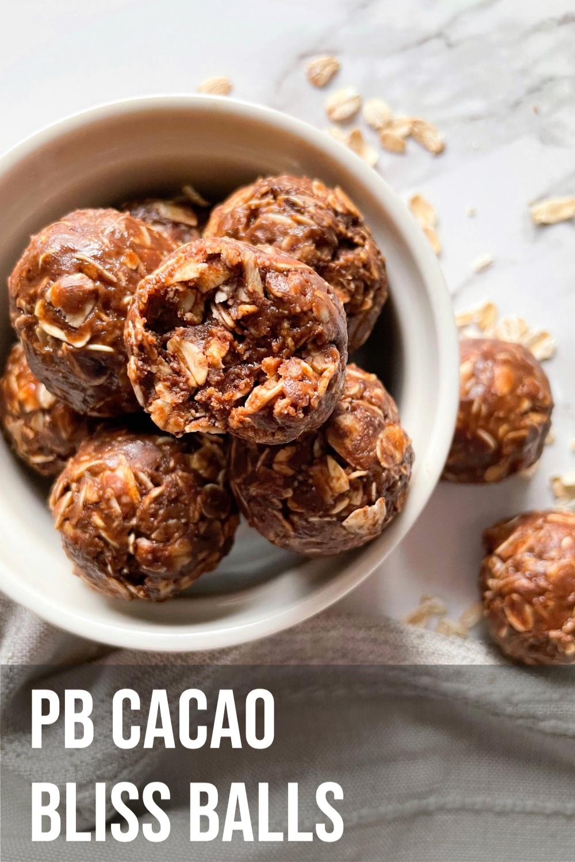 Peanut Butter Cacao Bliss Balls
