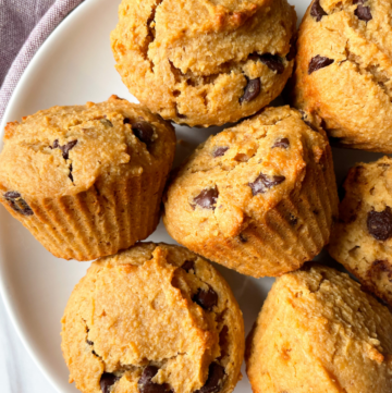 muffins on white plate