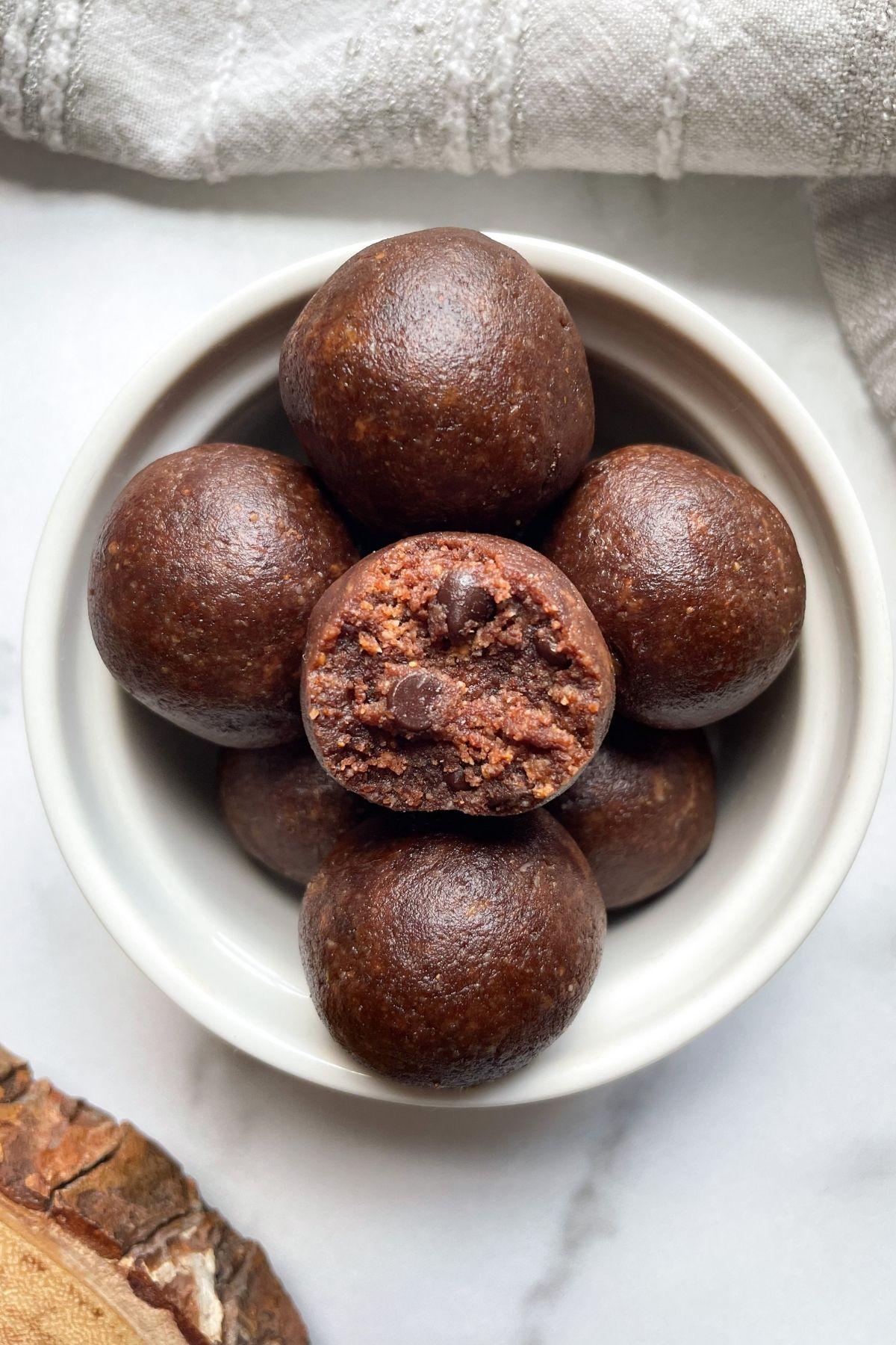 brownie bites in bowl