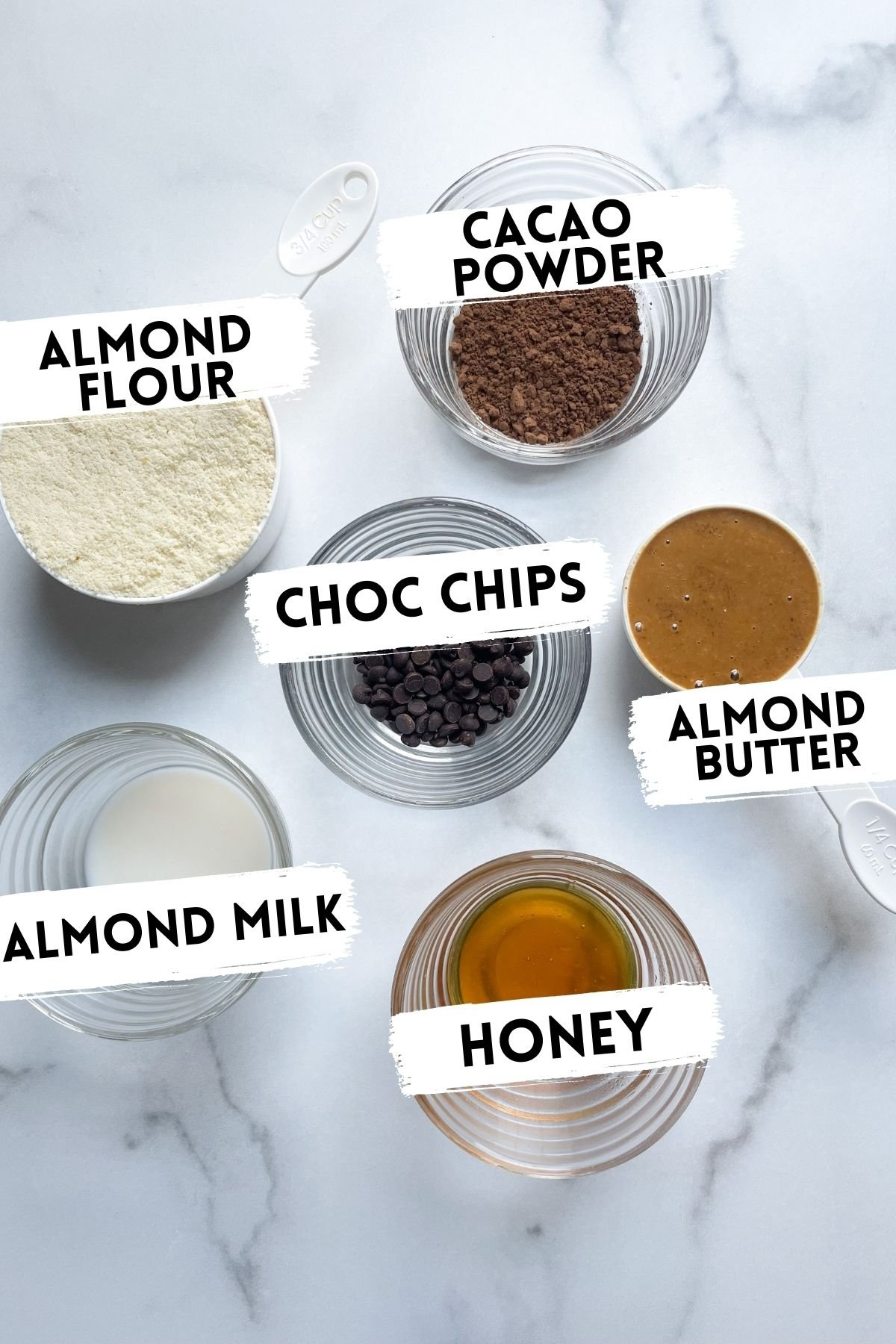 ingredients for raw brownie bites