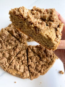 Healthy Cinnamon Apple Crumb Cake