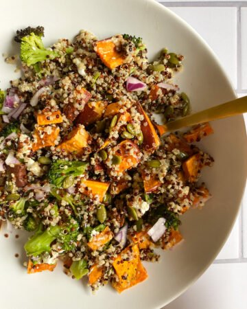 Harvest Quinoa Salad with Apple Cider Vinegar Dressing