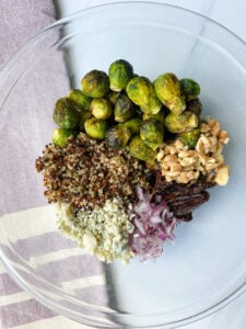 Easy Brussel Sprout Quinoa Salad