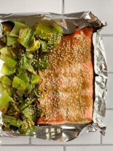 Sheet Pan Salmon and Bok Choy
