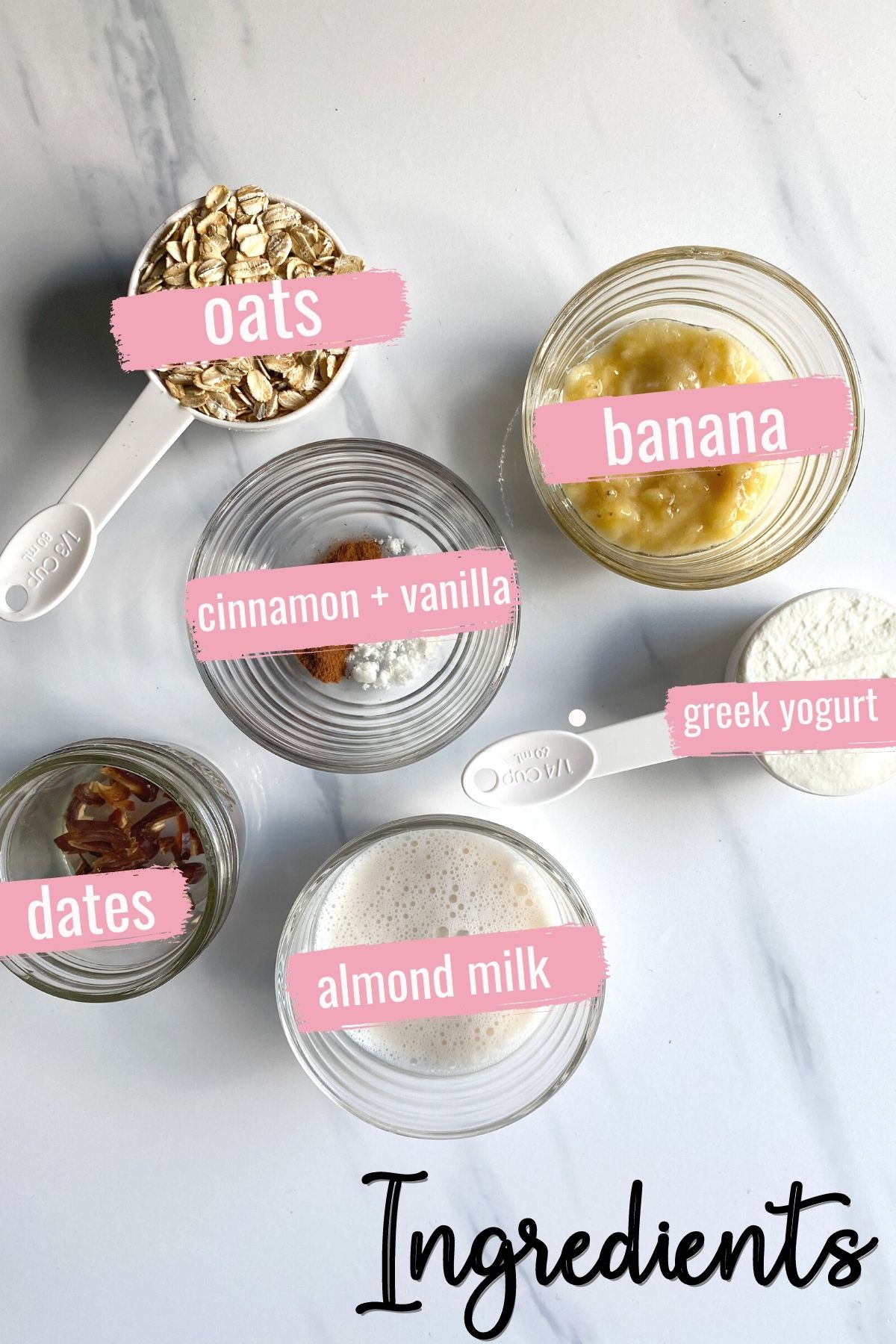 ingredients for high protein overnight oats