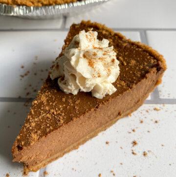 Healthy Chocolate Pumpkin Pie