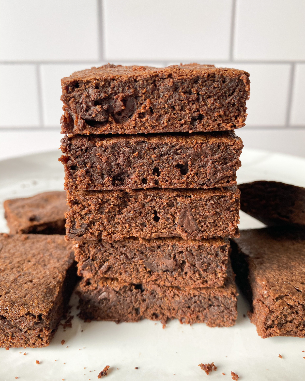 Easy One Bowl Oat Flour Brownies