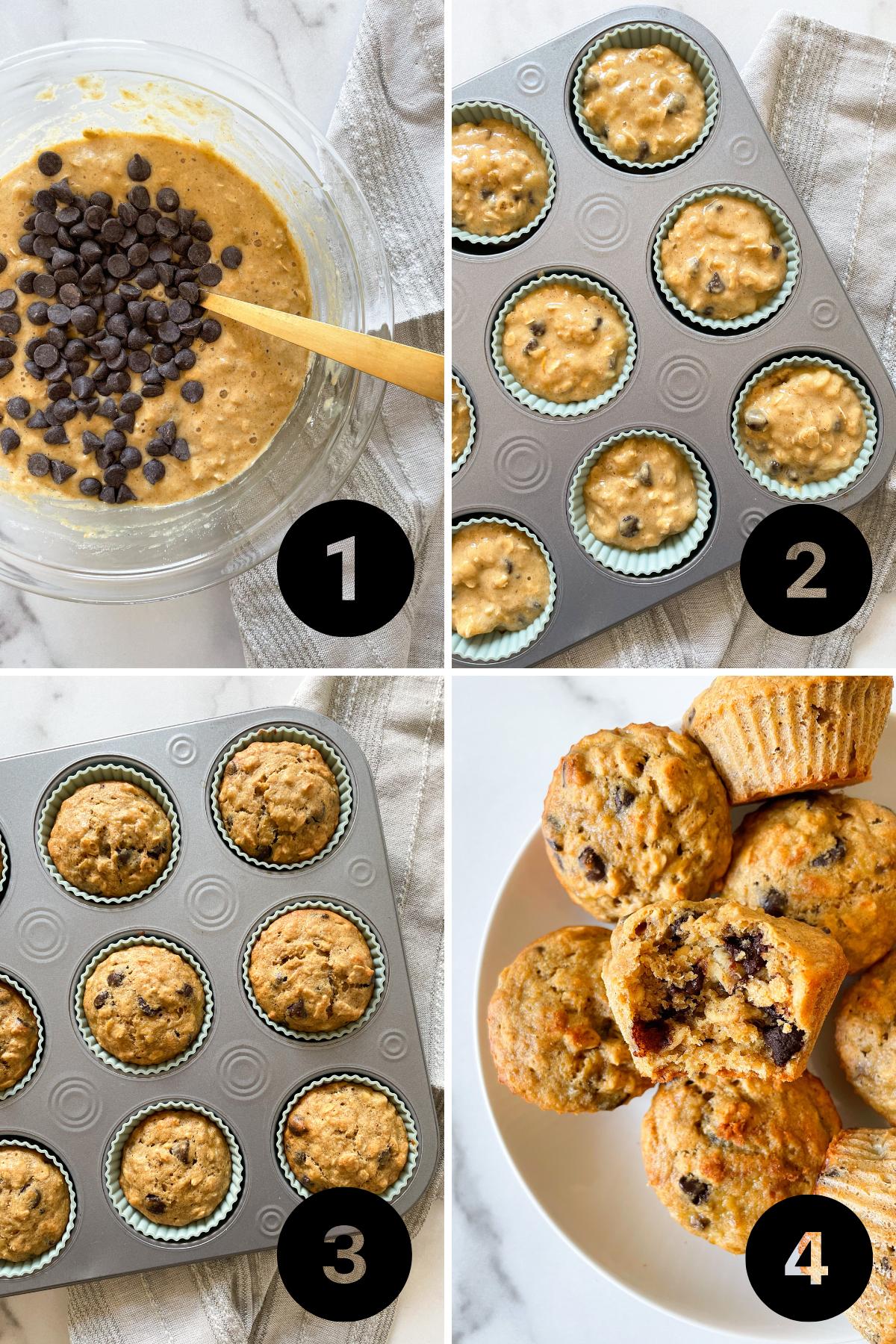 How to make Healthy Oatmeal Banana Muffins - Gluten Free & Maple-Sweetened