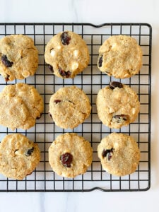 Baked Oatmeal Cranberry White Chocolate Cookies