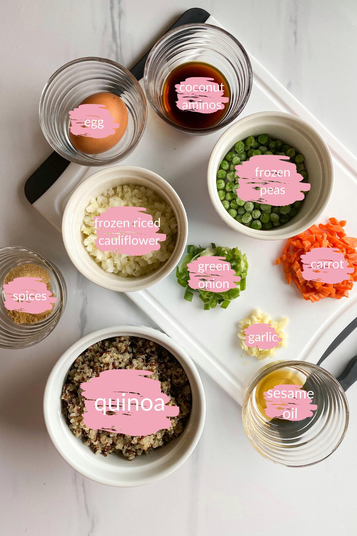 Quinoa Fried Rice Ingredients