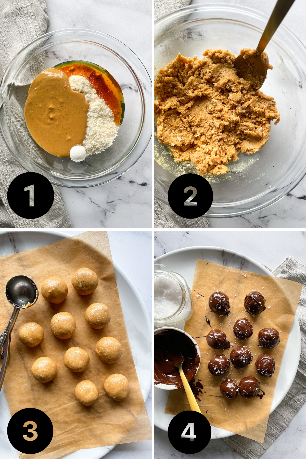 Step by step photo of Healthy Peanut Butter Ball Recipe
