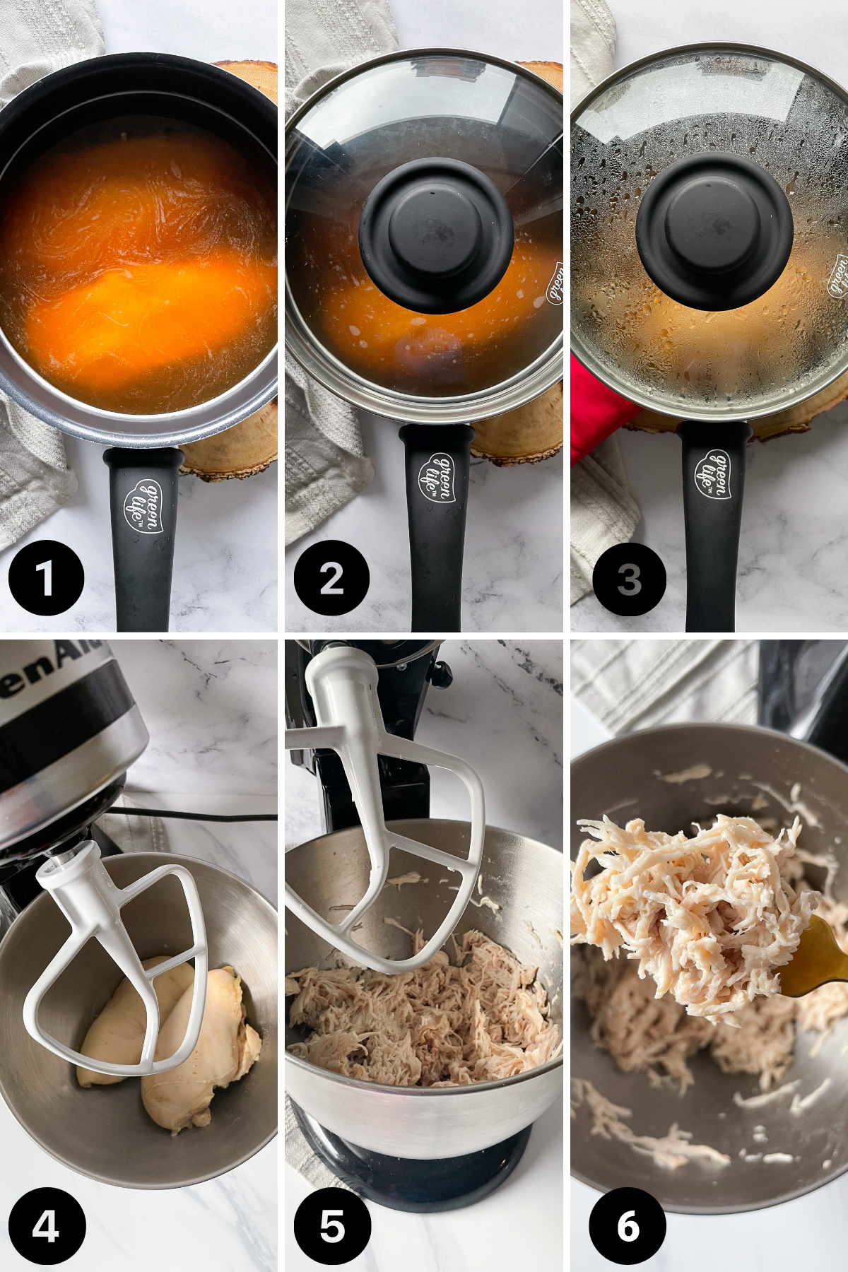 Step by Step Method to cooking Easy Shredded Chicken