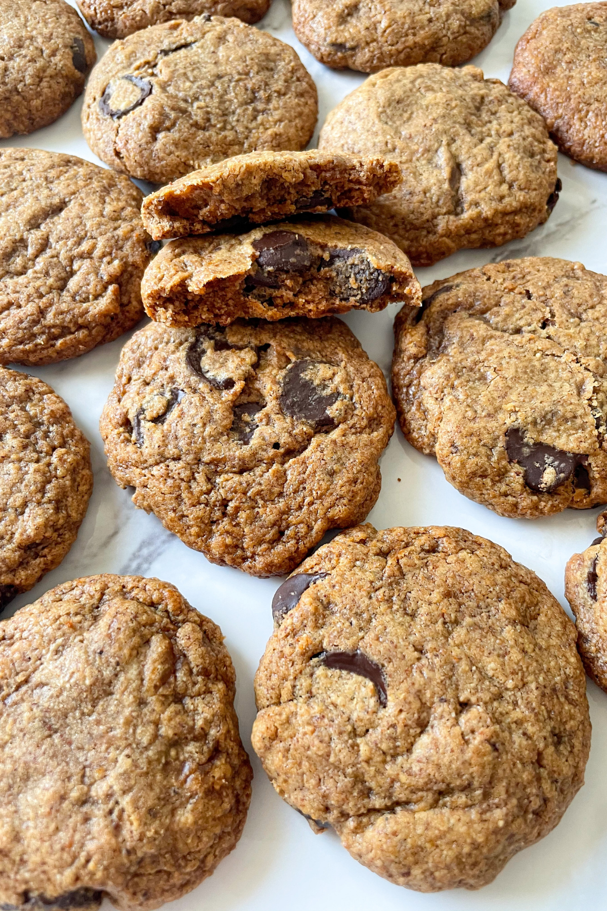 flourless almond butter cookies on white plate