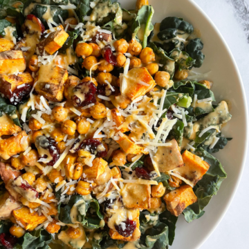 Sweet Potato and Chickpea Salad on White Plate