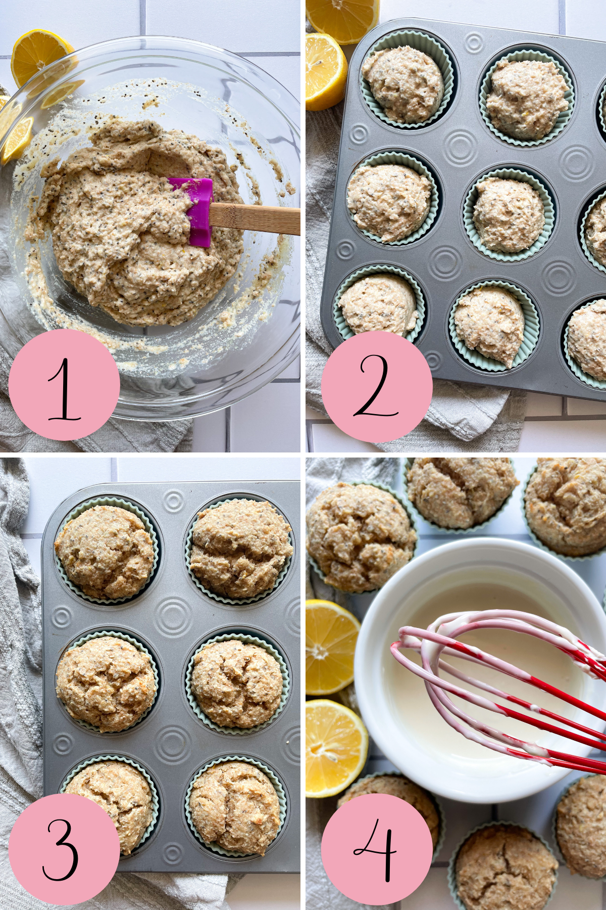 how to make lemon chia muffins process photo