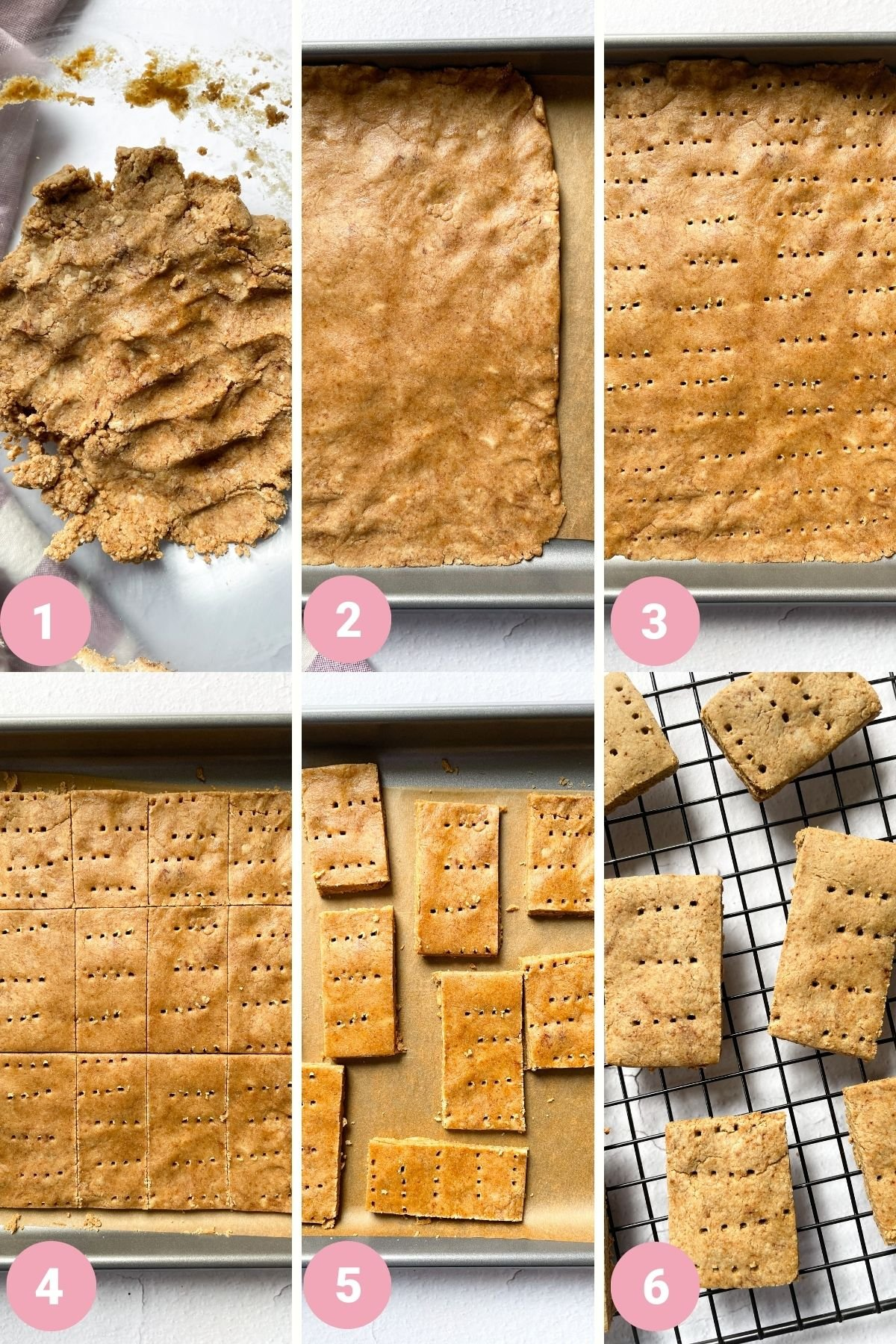 step by step how to make homemade graham crackers