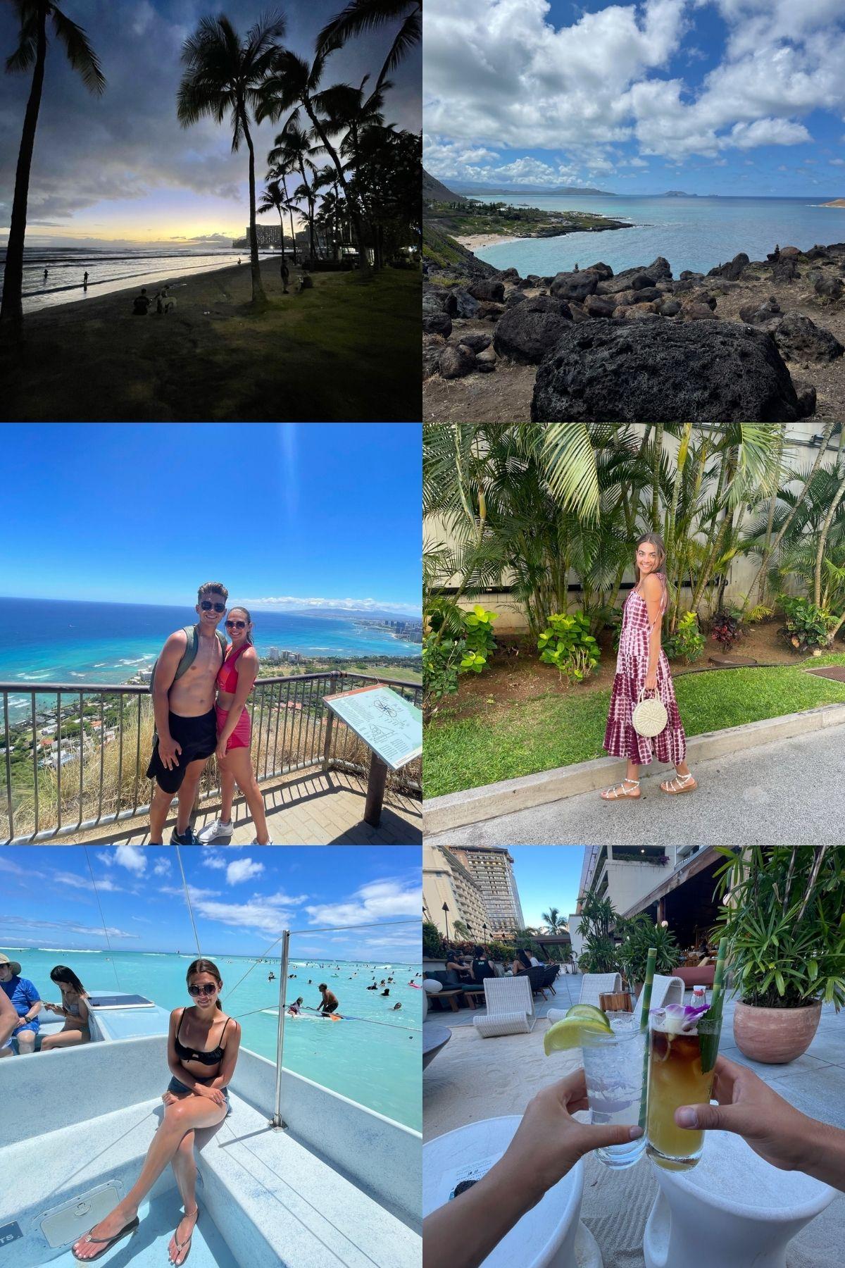 photo collage of Honolulu trip