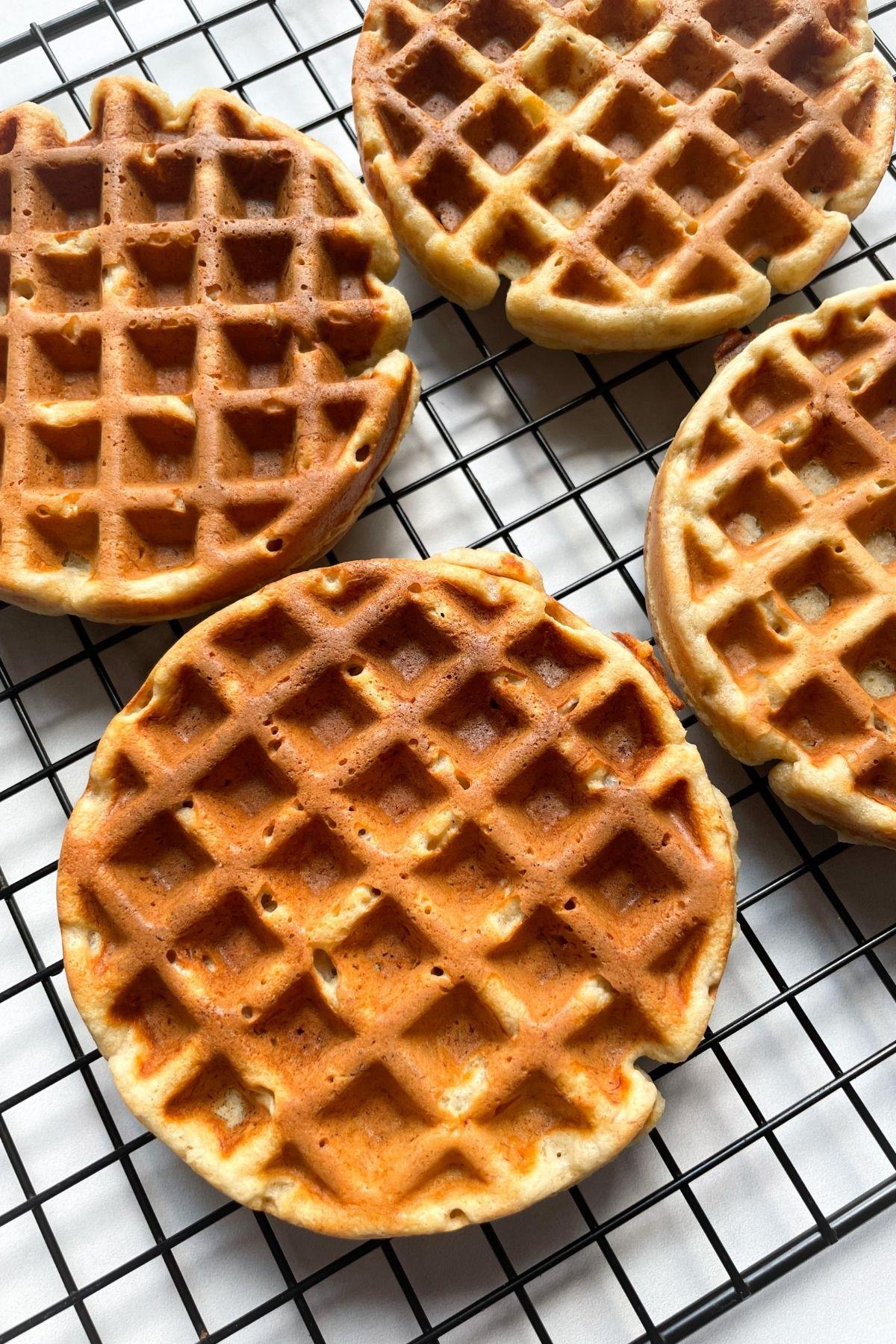 waffles on cooling rack