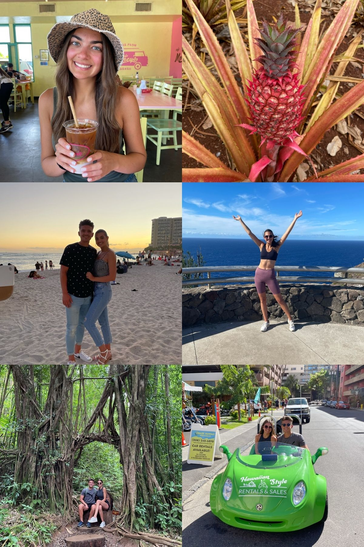 photo collage of Oahu trip