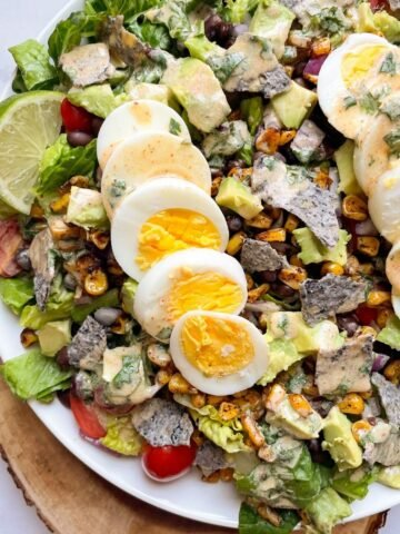 mexican cobb salad on plate