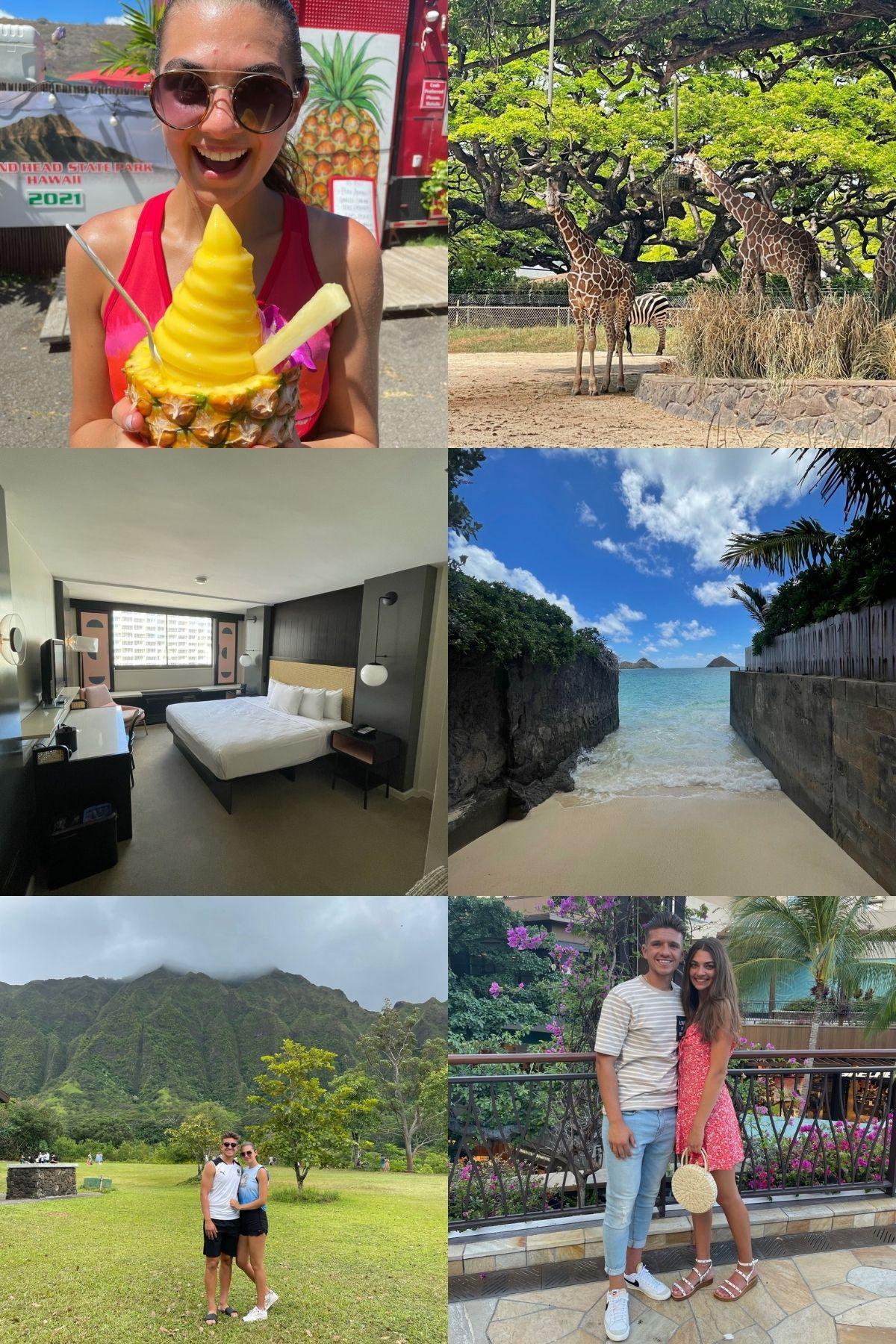 photo collage of hawaii trip