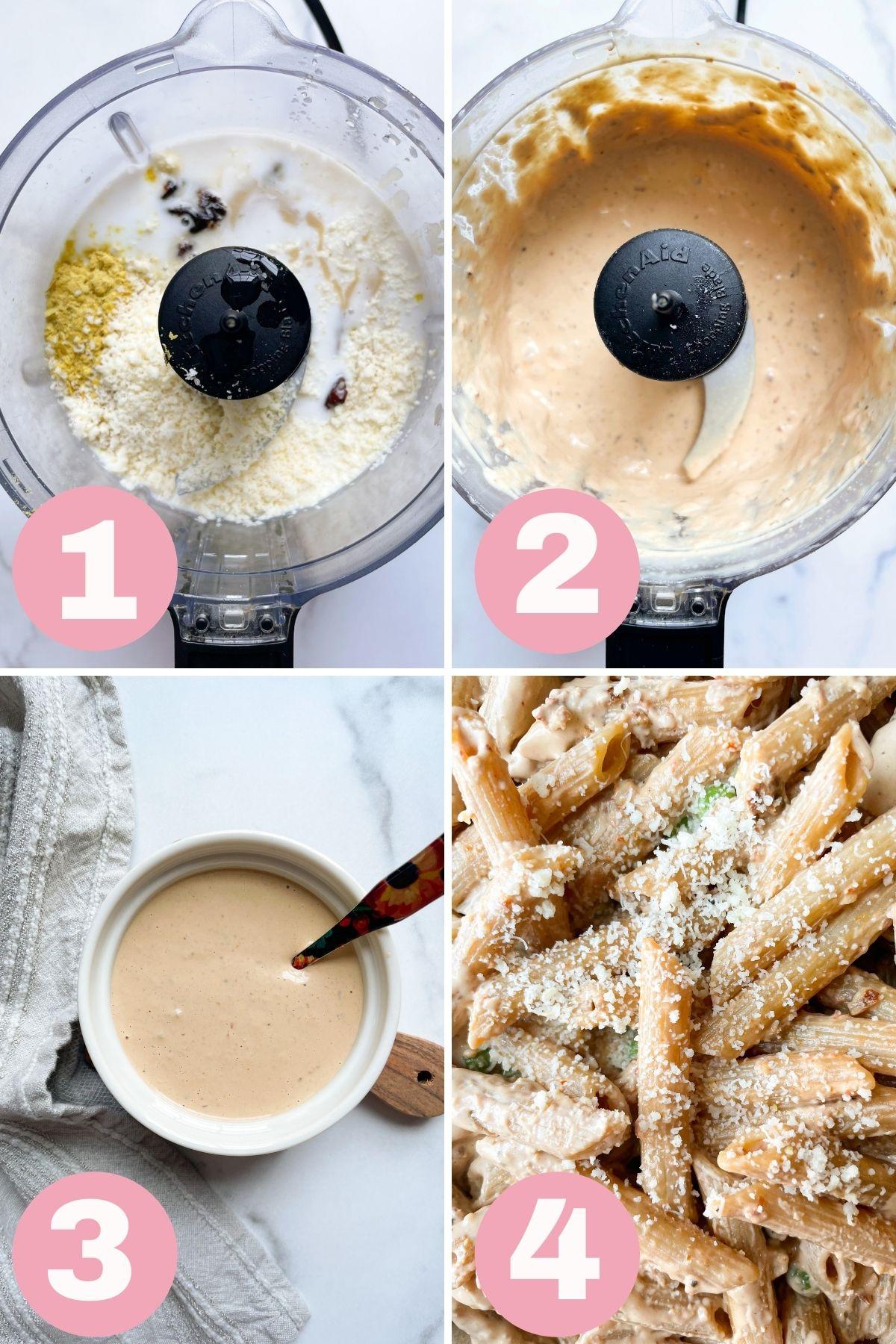 how to make tahini pasta