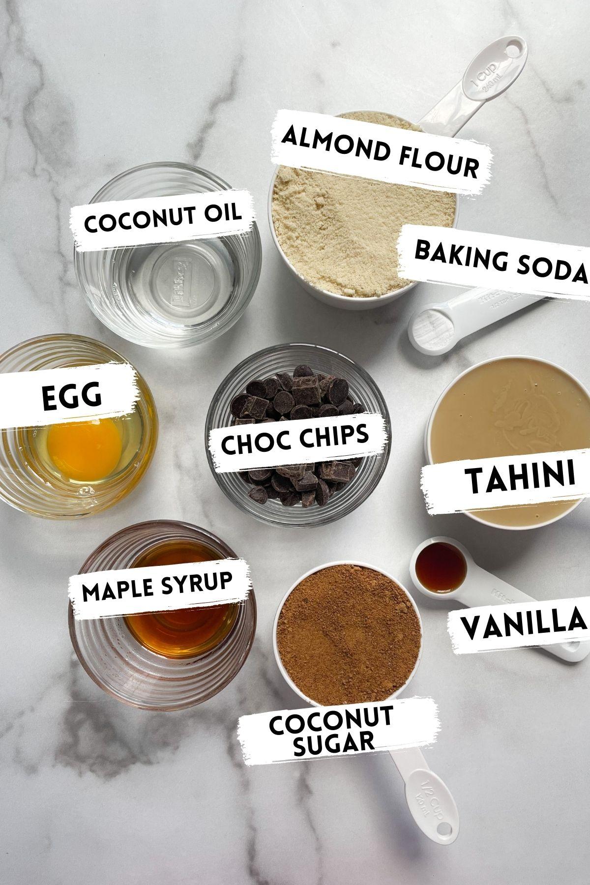 ingredients in tahini blondies