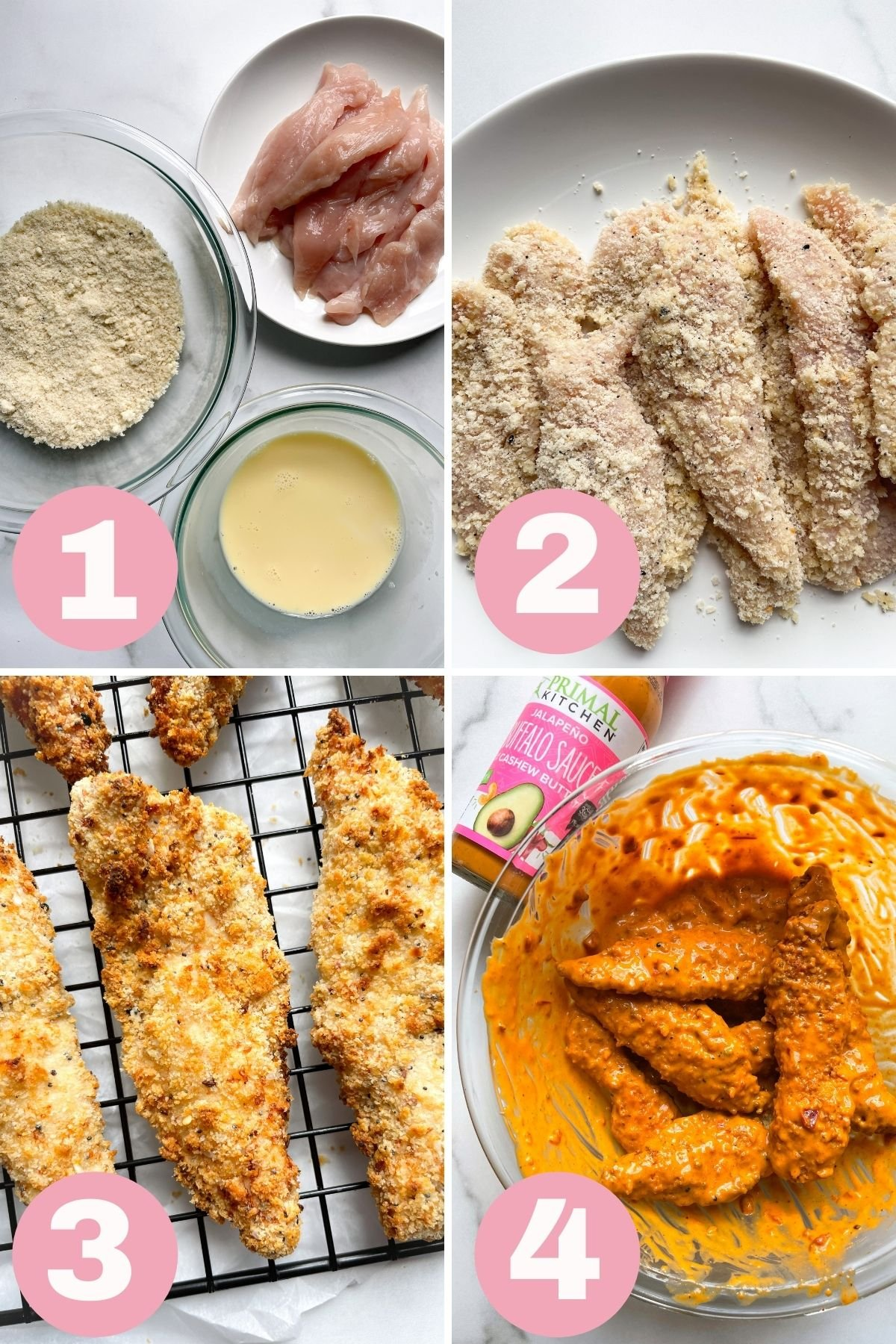 4 steps how to make air fryer chicken tenders