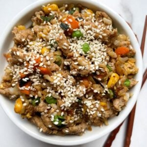 healthy fried rice in bowl