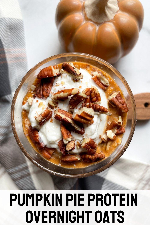 jar with pumpkin overnight oats