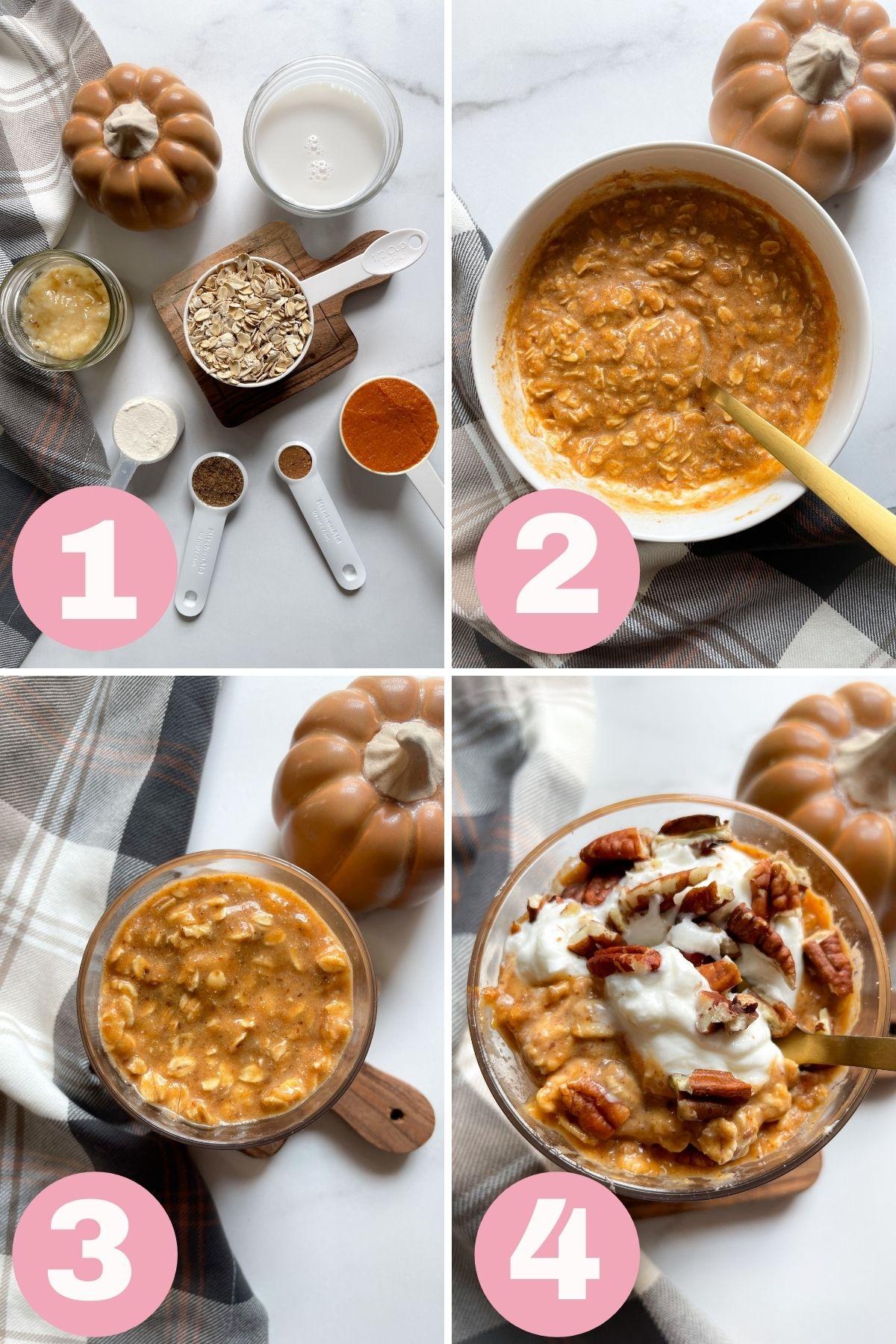 how to make pumpkin pie overnight oats